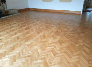 John Day Repair and Refinished Parquet Floor