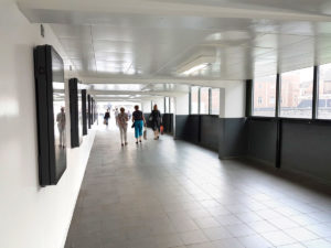 John Day Bus Station Wall and Ceiling Coatings   Interior of bus station path